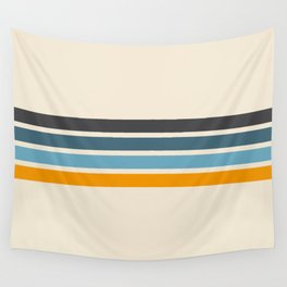 Vintage Retro Stripes Wall Tapestry