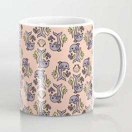 """""""Dolphin Delight"""" Pattern by Mellie Test Coffee Mug"""