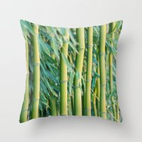 bamboo Throw Pillows featuring Bamboo by Laura Ruth