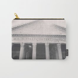 The Pantheon, fine art print, black & white photo, Rome photography, Italy lover, Roman history Carry-All Pouch