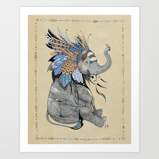 Hybrid Elephant Art Print