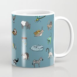 Animal alphabeth blue Coffee Mug