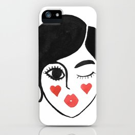 wink kiss iPhone Case