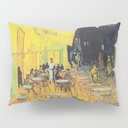 Café Terrace at Night by Vincent van Gogh Pillow Sham