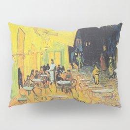 Café Terrace at Night by Vincent van Gogh Pillow Sham