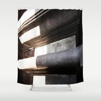 shiva Shower Curtains featuring Shrine of Shiva by Four Hands Art