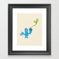 ENERGY RING Framed Art Print