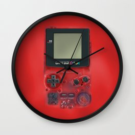 Classic retro transparent Dark red game watch iPhone 4 5 6 7 8, tshirt, mugs and pillow case Wall Clock