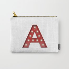 Lightbulb letter A Carry-All Pouch