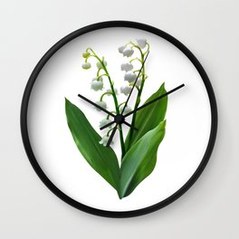 Lily of the Valley Floweret Wall Clock