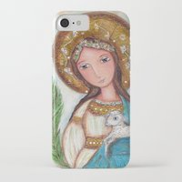 agnes cecile iPhone & iPod Cases featuring Saint Agnes by Flor Larios Art