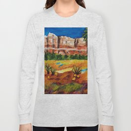 Courthouse Butte Rock, Sedona Arizona Long Sleeve T-shirt