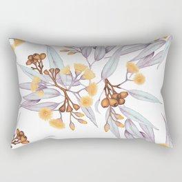Gumnuts Eucalyptus Gold Silver Lilac Rectangular Pillow