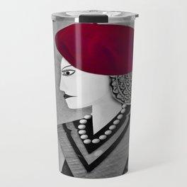 Raspberry Beret Travel Mug