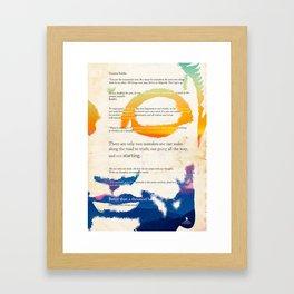 GUATAMA BUDDHA Framed Art Print