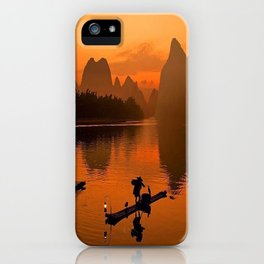 Li River in Guilin China iPhone Case