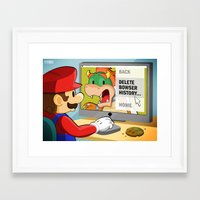 modern vampires of art history Framed Art Prints featuring Bowser History by roboxstudios