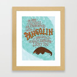 Pangolin Framed Art Print