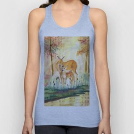 Mom and Little Deer Unisex Tank Top