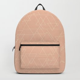 Vector Triangle Pattern in Peach and Gold Backpack