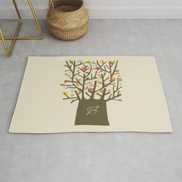"The ""I love you"" tree Rug"