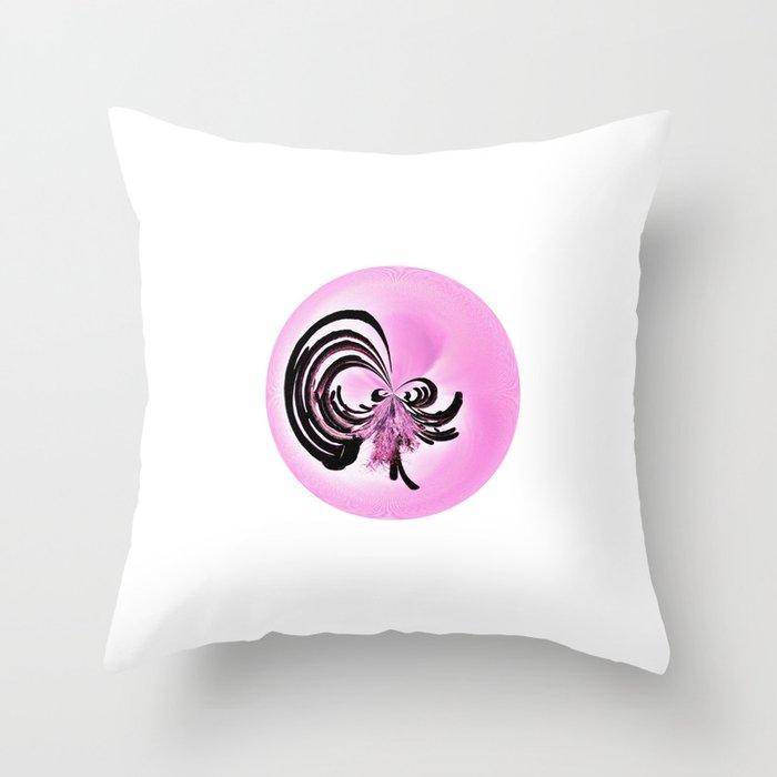 Wild Cactus RoundUp (Circle Week) Throw Pillow