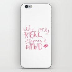 elegance is in the mind (pink) iPhone & iPod Skin