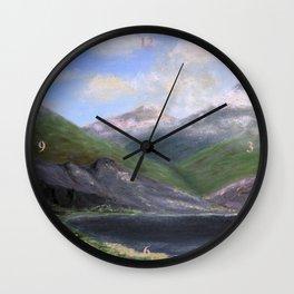 Isle of Rhum, original artwork, oils on board Wall Clock