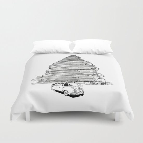 Log Run Duvet Cover
