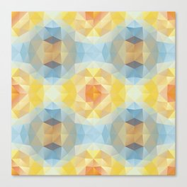 Kaleidoscopic design in soft colors Canvas Print