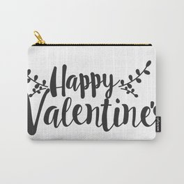Hand Lettering Happy Valentines Carry-All Pouch