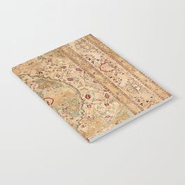 Silk Tabriz Azerbaijan Northwest Persian Rug Print Notebook