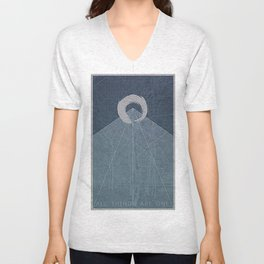 All Things Are One Unisex V-Neck