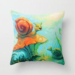 Kangou-Scargot Throw Pillow