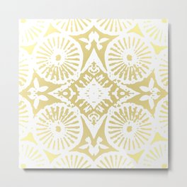 gilded flower power Metal Print