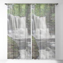 Appalachian Waterfall II - Ricketts Glen Adventure Sheer Curtain
