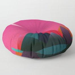 moon light geometric abstract landscape Floor Pillow