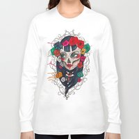 mexican Long Sleeve T-shirts featuring Mexican SK by LucreziaU's Illustration