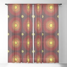 70's Sheer Curtain