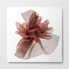 Red bow 3 Metal Print