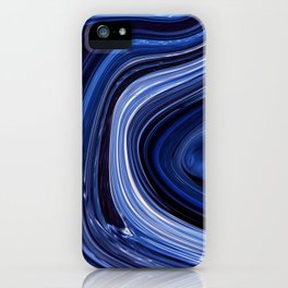 Liquified Storm Deep Blue Hues Smooth Lines iPhone Case