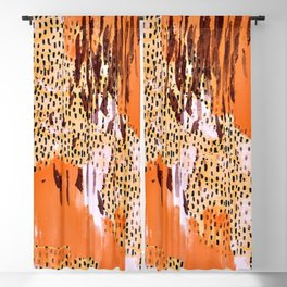 Hand Painted Retro Designs Blackout Curtain