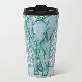 Emerald Elephant in the Lilac Evening Travel Mug