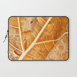 Burning Bokeh Leaf Laptop Sleeve