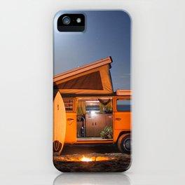 Surfing night iPhone Case