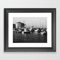 Catalina Harbor Framed Art Print