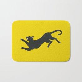 Yellow Panther Bath Mat