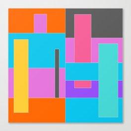 Color Blocking Canvas Print