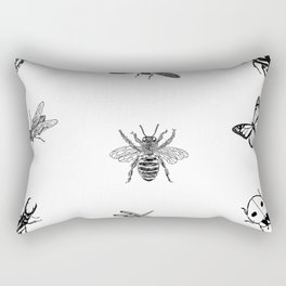 Bee,butterfly,bugs ,insects pattern Rectangular Pillow