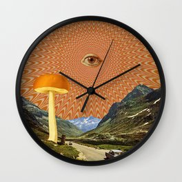 Mushroom day Wall Clock
